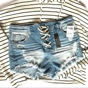 Charlotte Russe jean shorts size 2
